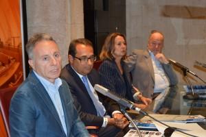 Da sinistra Roberto Papini,  Carmelo Campagna, Giovanna Chiuini, Giorgio Alberton